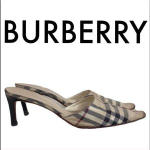 👑 BURBERRY MULE HEELS 💯AUTHENTIC